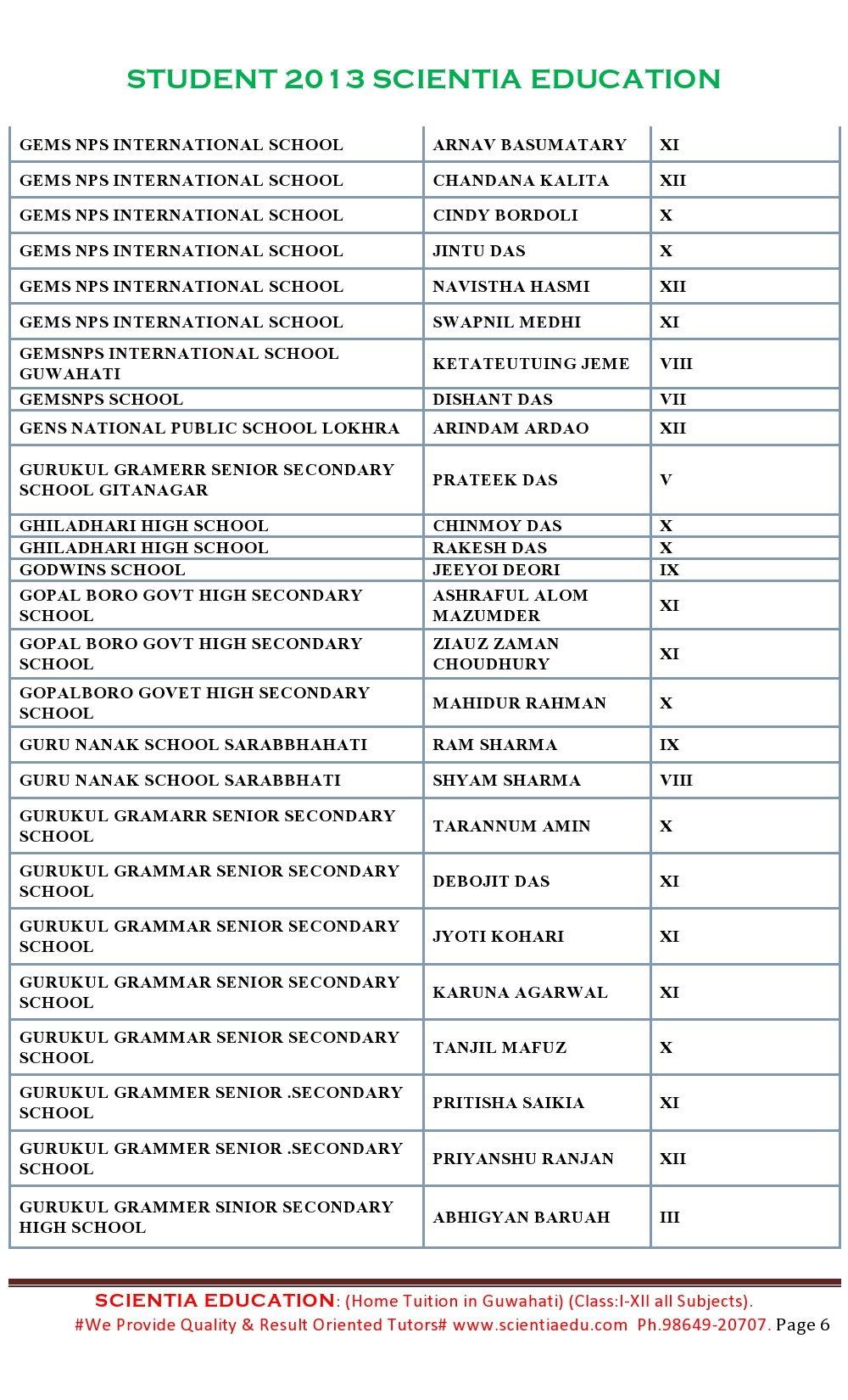 STUDENT 2013 SCIENTIA EDUCATION 6